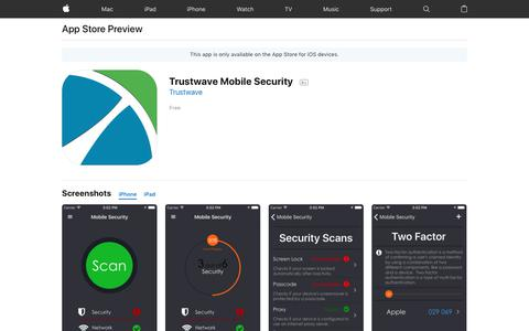 Trustwave Mobile Security on the AppStore