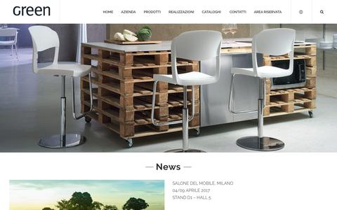 Screenshot of Press Page greensrl.it - News - Green S.r.l - captured May 13, 2017