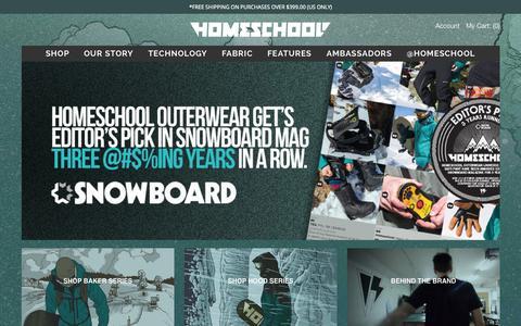 Screenshot of Home Page homeschoolouterwear.com - Homeschool Outerwear - captured Nov. 3, 2015