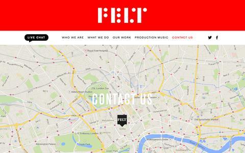 Screenshot of Contact Page feltmusic.com - Felt Music - captured Nov. 6, 2018