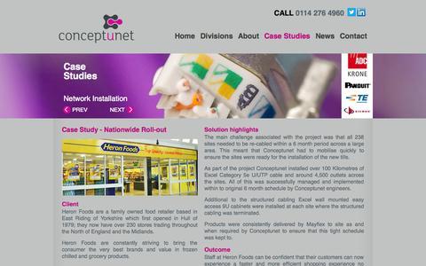 Screenshot of Case Studies Page conceptunet.com - Conceptunet - Case Studies - captured Oct. 3, 2014
