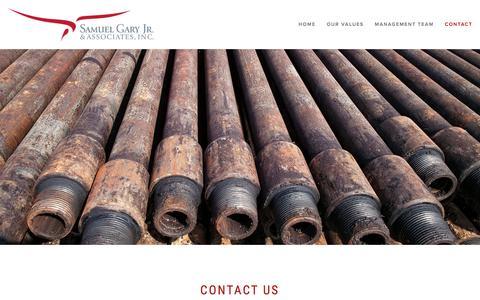Screenshot of Contact Page samgaryjr.com - Contact — Sam Gary Jr. & Associates - captured Feb. 4, 2016