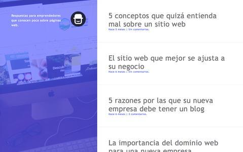 Screenshot of Blog dondesigner.com - Blog | DonDesigner | Asesoría profesional en diseño web para emprendedores - captured Sept. 30, 2014