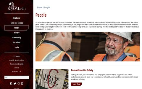 Screenshot of Team Page royomartin.com - RoyOMartin | People - captured Sept. 21, 2018