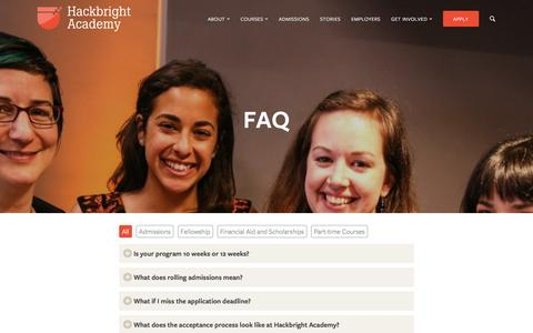 Frequently Asked Questions | Hackbright Academy