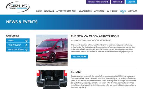 Screenshot of Press Page sirusautomotive.co.uk - News | Wheelchair Accessible Vehicles | Sirus Automotive - captured Feb. 27, 2016