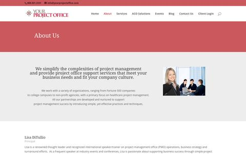 Screenshot of About Page yourprojectoffice.com - About-Your Project Office | Healthcare Project Management - captured Feb. 13, 2016