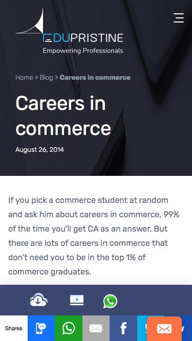 Screenshot of Jobs Page  edupristine.com - Careers in Commerce