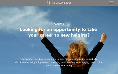 Screenshot of Jobs Page theshelbygroup.com - Management Consulting Firm | Procurement Optimization | The Shelby Group - captured Nov. 17, 2017