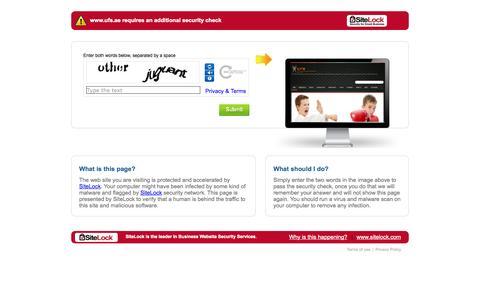 Screenshot of Login Page ufs.ae captured Oct. 23, 2014