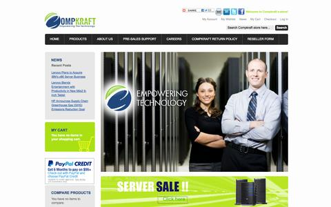 Screenshot of Home Page About Page Privacy Page Contact Page Products Page Press Page Jobs Page Site Map Page Login Page Terms Page compkraft.com - Welcome to Compkraft e-Store - captured Sept. 30, 2014