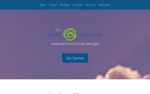 Screenshot of Home Page thetripstudio.com - The Trip Studio - captured Oct. 9, 2014