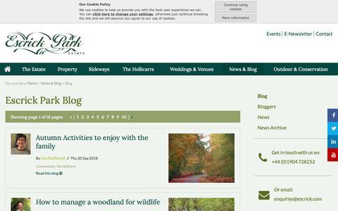 Screenshot of Blog escrick.com - Blog:: Escrick - Country Estate, Commercial Property to Let Yorkshire - captured Sept. 29, 2018