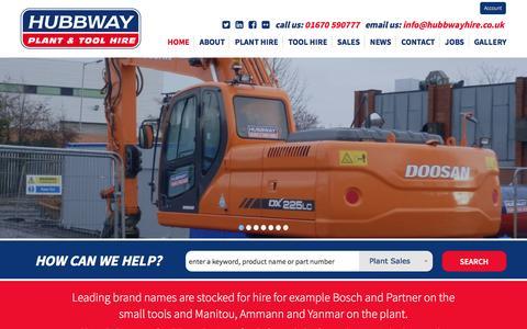 Screenshot of Home Page hubbwayhire.co.uk - Homepage - captured Jan. 3, 2017