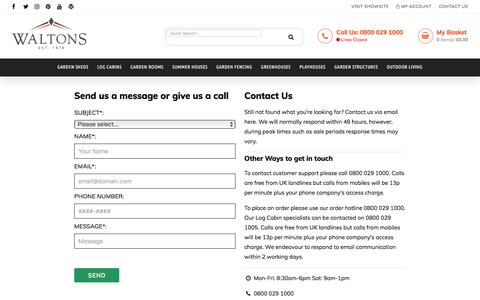 Contact Us | Waltons Sheds