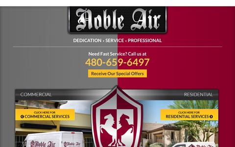 Screenshot of Home Page noble-air.com - Home - Heating & Cooling Service by Noble Air in Phoenix, AZ - captured Aug. 4, 2015