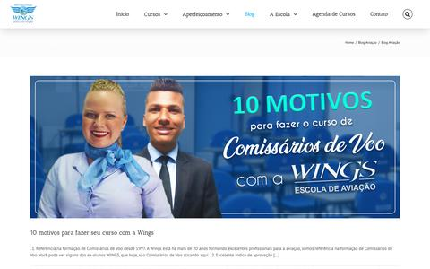 Screenshot of Blog wingsescola.com.br - | Wings Escola de Aviação - captured Oct. 18, 2018