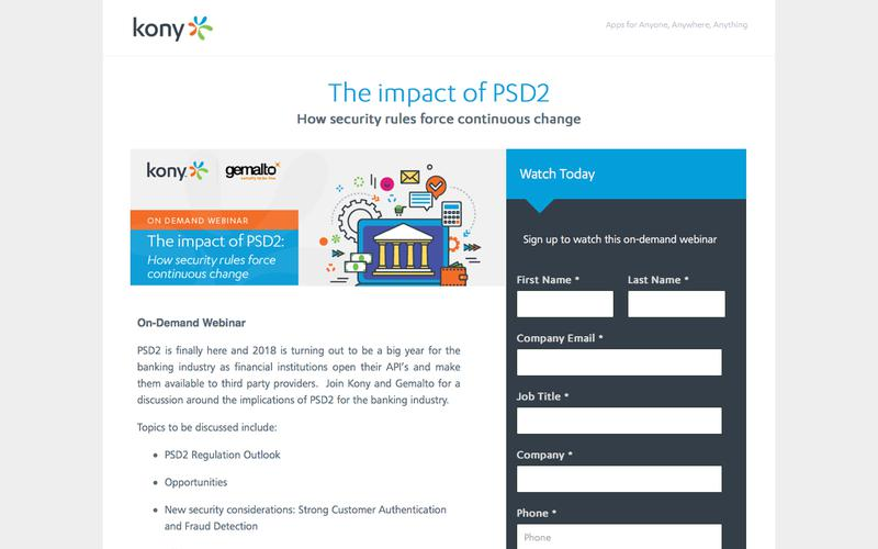 Kony | The impact of PSD2