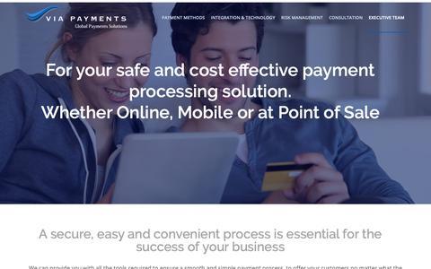 Screenshot of Home Page viapayments.com - VIA Payments - captured Nov. 7, 2018