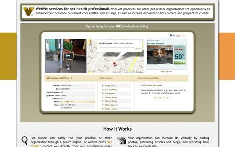 Screenshot of Signup Page webvet.com - Professional services intro | Webvet - captured Dec. 6, 2016