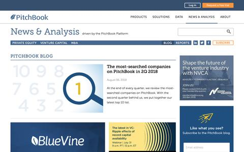 Screenshot of Blog pitchbook.com - VC, PE and M&A News & Trends | PitchBook - captured Aug. 7, 2018