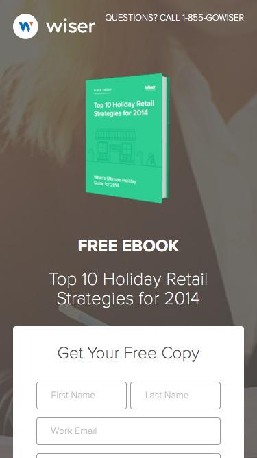Wiser eBook - Top 10 Holiday Retail Strategies