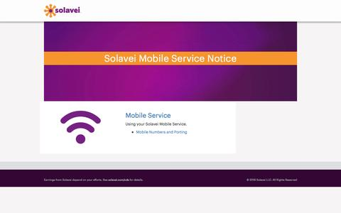 Screenshot of Support Page solavei.com - Home | Solavei Support - captured March 29, 2016