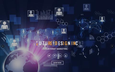 Screenshot of Home Page futureofdesigninc.com - Future Design Inc - captured Jan. 9, 2017