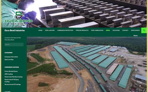 Screenshot of Press Page dura-bond.com - News Blog   Dura-Bond Industries - captured Oct. 13, 2017