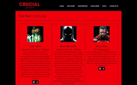Screenshot of Team Page crucialpictures.com - Crucial Pictures Team - captured Sept. 30, 2014