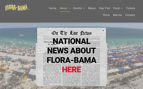 Screenshot of Press Page florabama.com - FLORA-BAMA MEDIA - captured July 14, 2019