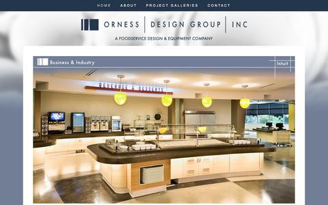 Screenshot of Home Page ornessdesigngroup.com - Orness Design Group - captured Oct. 26, 2017