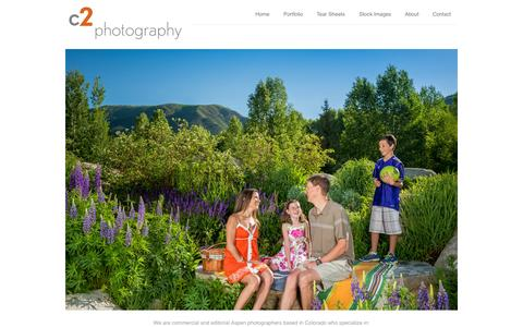 Screenshot of Home Page c2-photography.com - C2 Photography | Commercial & Editorial Aspen Photographer - captured Oct. 1, 2014
