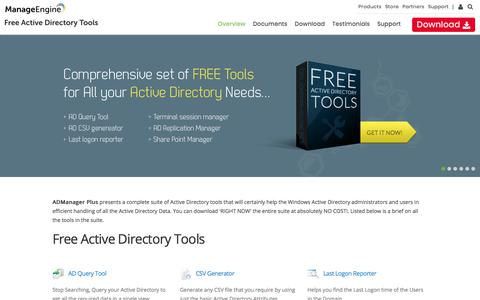 Free Active Directory Tools from ManageEngine ADManager Plus - Index