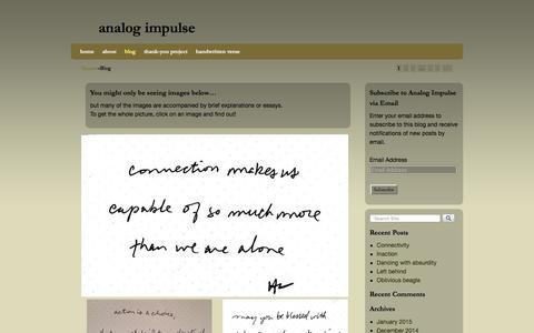 Screenshot of Blog analogimpulse.net - blog | analog impulse - captured Feb. 6, 2016