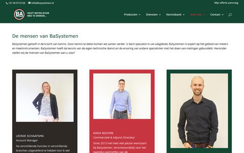 Screenshot of Team Page basystemen.nl - De mensen van BaSystemen - captured Aug. 1, 2018