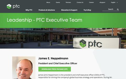 Screenshot of Team Page ptc.com - Leadership - PTC Executive Team | PTC... - captured May 19, 2018