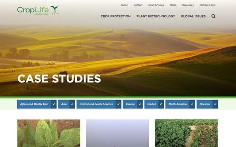 Screenshot of Case Studies Page croplife.org - Case Studies | CropLife International - captured Oct. 3, 2014