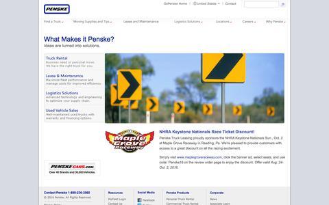 Penske - Truck Leasing, Logistics, Truck Rental, Used Trucks Sales
