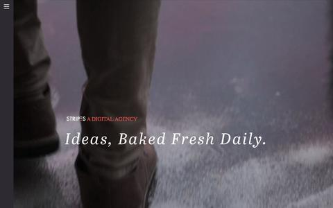 Screenshot of Blog stripesagency.com - Stripes.  Blog  A digital agency. - captured Jan. 4, 2016