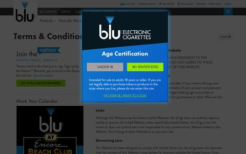 Screenshot of Terms Page blucigs.com - Terms & Conditions | blu eCigs® - captured Sept. 19, 2014