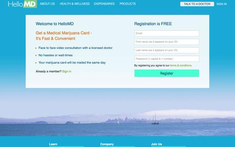 Screenshot of Signup Page hellomd.com - Welcome to HelloMD. Register a new account. - captured Dec. 9, 2015