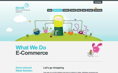Screenshot of Services Page docnet.nu - E-Commerce - captured Sept. 23, 2014