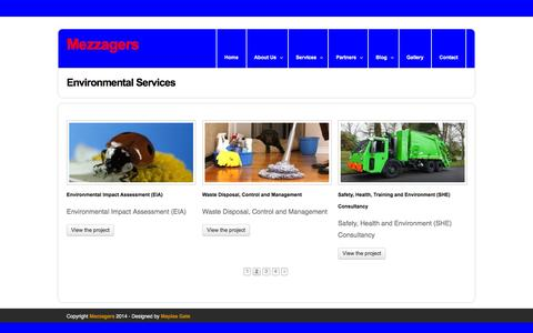 Screenshot of Services Page mezzagers.com - Mezzagers | Services - captured Feb. 3, 2016