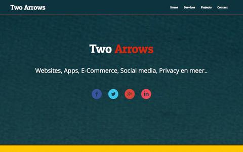 Screenshot of Home Page twoarrows.nl - Two Arrows : ICT Services - captured Oct. 6, 2014