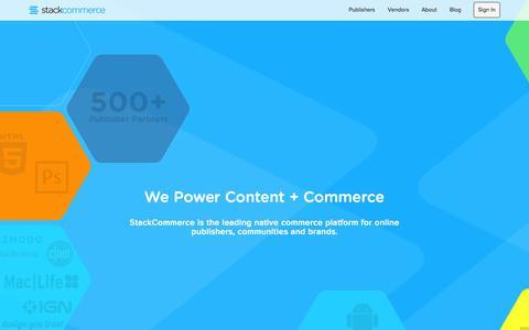 Screenshot of Home Page stackcommerce.com - StackCommerce - captured Jan. 26, 2015
