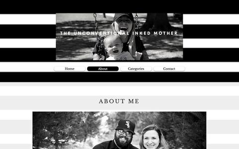 Screenshot of About Page theuim.com - About | The Unconventional Inked Mother - captured May 29, 2019