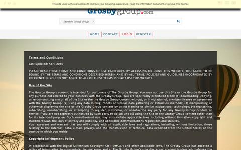 Screenshot of Terms Page grosbygroup.com - The Grosby Group - captured Oct. 22, 2017