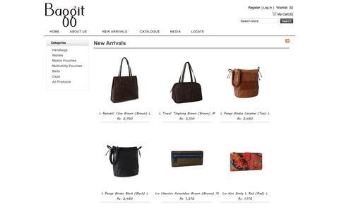 Screenshot of Products Page baggit.com - Recently Added Products - captured Nov. 22, 2016