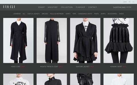 Screenshot of Products Page irakli.fr - Products Archive - Irakli - captured Feb. 3, 2016
